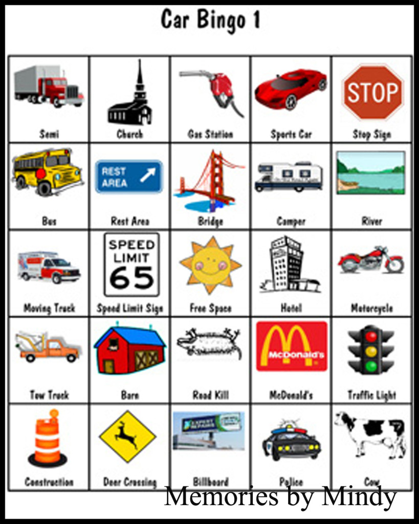 It is a picture of Effortless Travel Bingo Cards